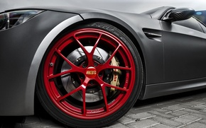 Picture red, tuning, bmw, BMW, disk, BBS