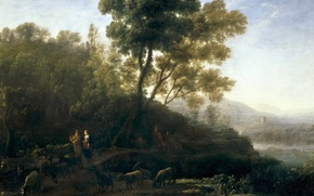 Picture landscape, picture, Claude Lorrain, Grazing Herds