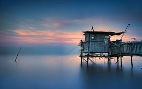 Picture sea, bridge, house