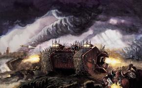 Picture Chaos, battle, Warhammer 40000, Chaos, Warhammer 40K, Land Raider