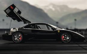Picture black, f40, Ferarri