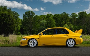 Picture Mitsubishi, Lancer, Evo, Yellow