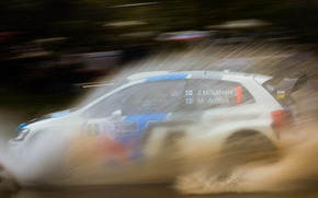 Picture water, squirt, volkswagen, rally, Argentina, wrc, polo, JM Latvala, 2013