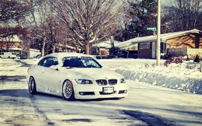 Picture winter, road, snow, bmw, 335i, stance, e93, ccw, 3series, stanceworks