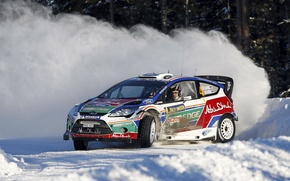 Picture Ford, Winter, Snow, Speed, Fiesta, World Rally Car
