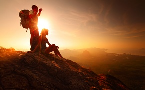 Picture sunset, mountain, dreams, adventure