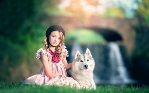 Picture dog, girl, Ashlyn Mae