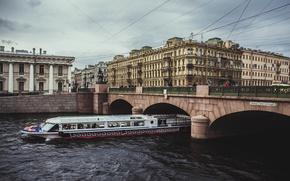Picture Bridge, Peter, River, Saint Petersburg, Russia, SPb, St. Petersburg, Nevsky Prospekt, spb, Leningrad, Fontanka