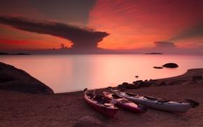 Picture sunset, Zimbabwe, lake Malawi