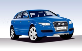 Picture Audi, vector, hatchback