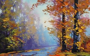 Wallpaper ART, FIGURE, ARTSAUS, AUTUMN SPLENDOR