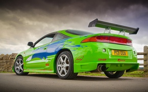 Picture auto, green, super, Kar, Mitsubishi Eclipse