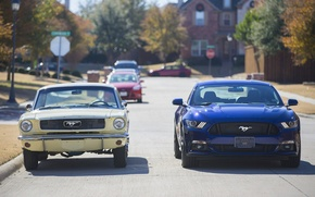 Picture road, street, Ford, mustang