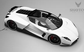 Picture white, supercar, side, Shayton