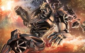 Picture tiger, fiction, robot, transformer, wheel, art, transformer