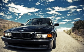 Picture the sky, bmw, 740