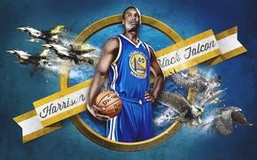 Picture The ball, Basketball, NBA, Golden State Warriors, Player, Harrison Barnes, Harrison Barnes