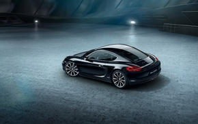 Picture car, black edition, porsche caman