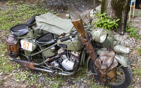 Picture war, motorcycle, military, world, Second, times, Condor, A680