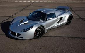 Picture silver, supercar, supercar, Hennessey, Venom GT