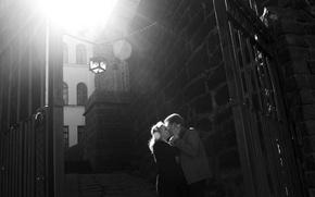 Picture white, girl, the sun, love, life, castle, black, feelings, brick, spring, Europe, lantern, guy, relationship, …