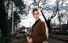Picture girl, the beauty, bokeh, Alexey Gromakov