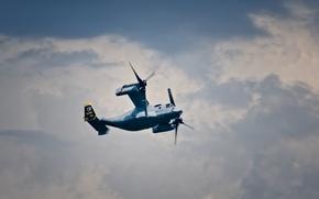 Wallpaper Osprey, the tiltrotor, flight, transport, Bell V-22