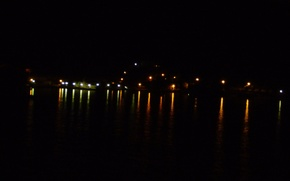 Picture night, lights, coast, Dubrovnik, Dubrovnik