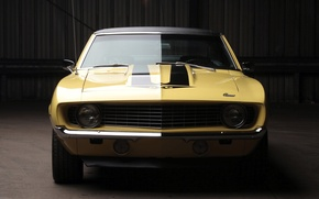 Picture background, Chevrolet, 1969, Camaro, Chevrolet, Camaro, twilight, the front, Muscle car, 427, Yenko, Muscle car