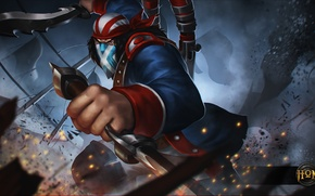 Picture hon, art, Independence Day, scout, Heroes of Newerth, moba, Continental Rebel