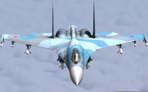 Picture weapons, flight, the plane, Su-27