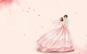 Picture dance, anime, pair, waltz