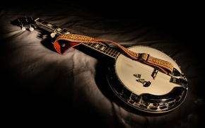 Picture music, tool, Five-string banjo