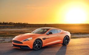 Picture Aston Martin, tuning, orange, matte, Vanquish