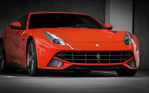 Picture ferrari, orange, f12, berlinetta
