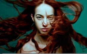 Picture hair, redhead, stroke, bokeh, brown-eyed, Ynot Photographe, A New Wind, Mirella