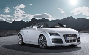 Wallpaper Road, Mountains, Audi