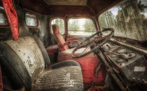 Picture machine, cabin, scrap