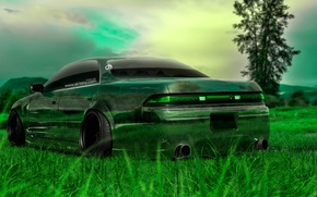 Wallpaper Nature, Auto, Grass, Machine, Tuning, Wallpaper, Japan, Toyota, Nature, Grass, Art, Green, Photoshop, Green, Design, ...