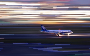 Picture speed, airport, the plane, Airbus