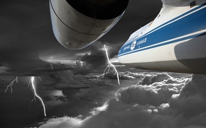 Picture the storm, flight, storm, clouds, airplane, an-124, ruslan, an-124