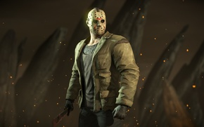 Wallpaper mk 10, Mortal Kombat X, Friday the 13th, mask, fighter, Jason Voorhees