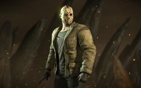 Wallpaper mask, Friday the 13th, fighter, Mortal Kombat X, Jason Voorhees, mk 10