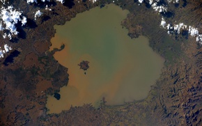 Picture Earth from space, Ethiopia, Lake Tana
