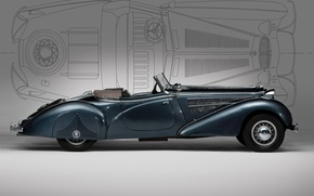 Wallpaper old, convertible, Horch