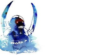 Picture ice, Minimalism, dota2, defense of the ancients, lich