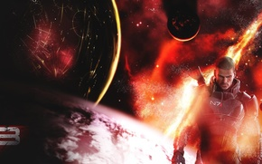 Picture Planet, mass effect, Shepard