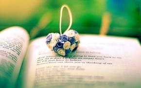 Picture flowers, background, the inscription, widescreen, Wallpaper, mood, heart, book, wallpaper, line, flowers, heart, owner, widescreen, …