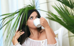 Picture girl, brunette, Cup, Valensia N