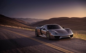 Picture Porsche, Metal, Spyder, 918, with, HRE, P101, Liquid